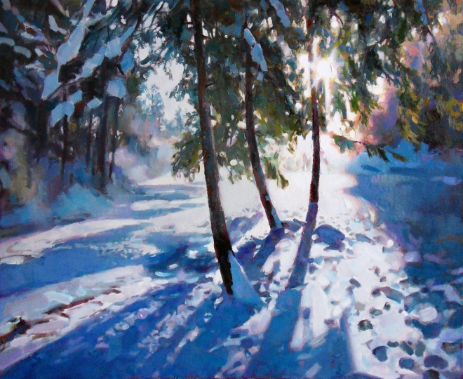 Картина маслом на холсте Мороз и солнце