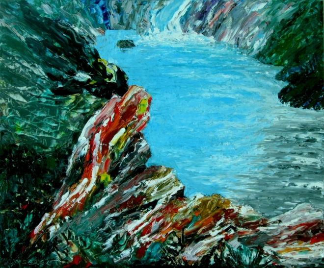 Картина маслом Водопад