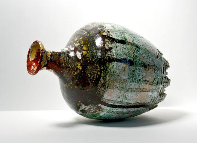 Картина ваза с красным горлом