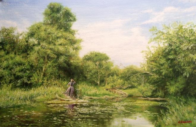 Картина маслом на холсте графиня изменившимся лицом бежит пруду