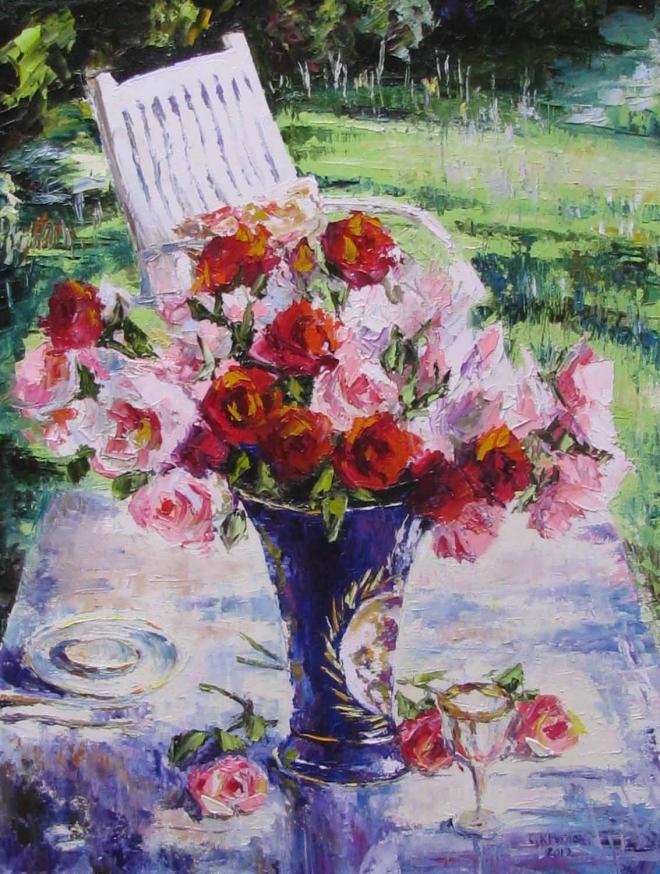 Картина маслом Розовые мечты