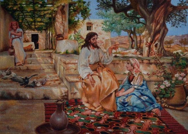 Иисус в гостях у Марфы и Марии