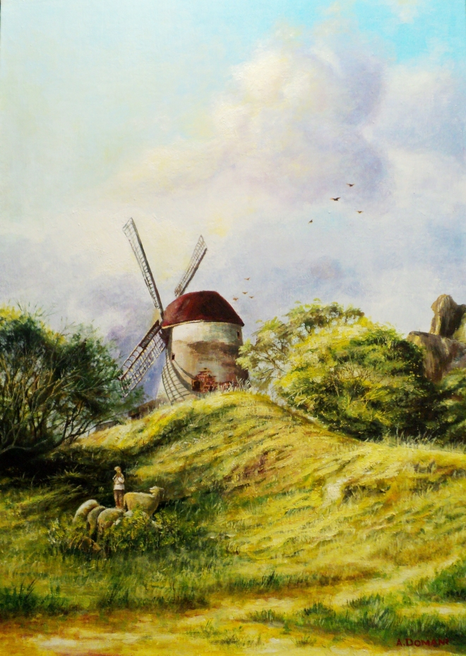 Картина маслом на холсте ГОЛОС ФЛЕЙТЫ И МЕЧТЫ