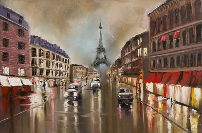 Тихая дождливая улица