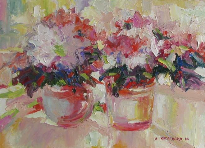 Картина маслом Розовый блюз