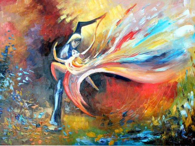 Картина маслом на холсте Танец