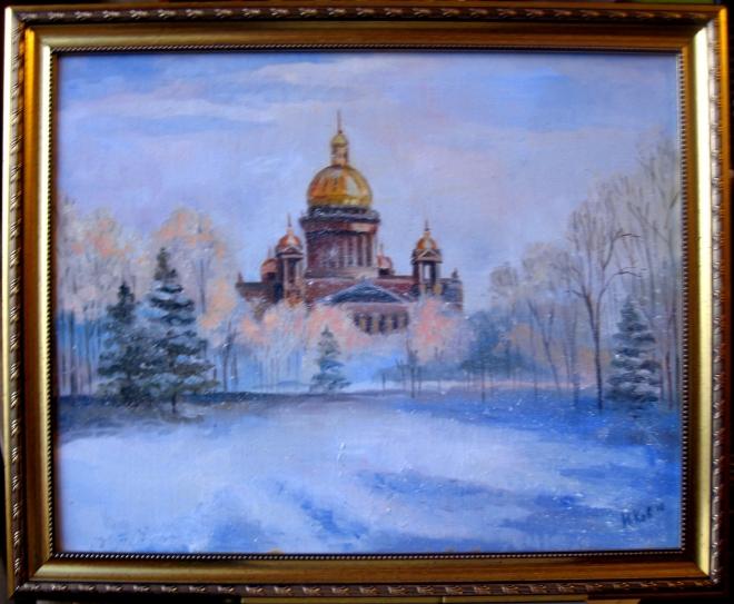 Картина маслом на холсте Казанский собор