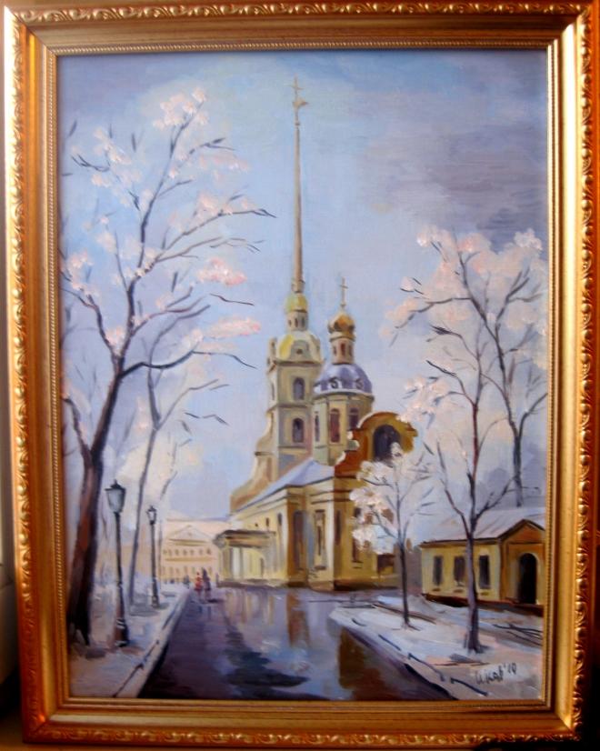 Картина маслом на холсте Петропавловский собор