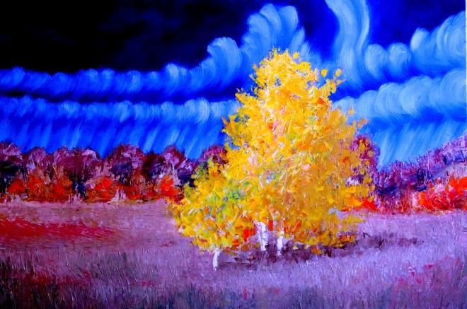 Картина маслом на холсте Осенние мотивы3