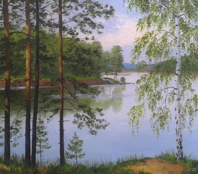 Деревья у самой воды. Река Ик на Урале
