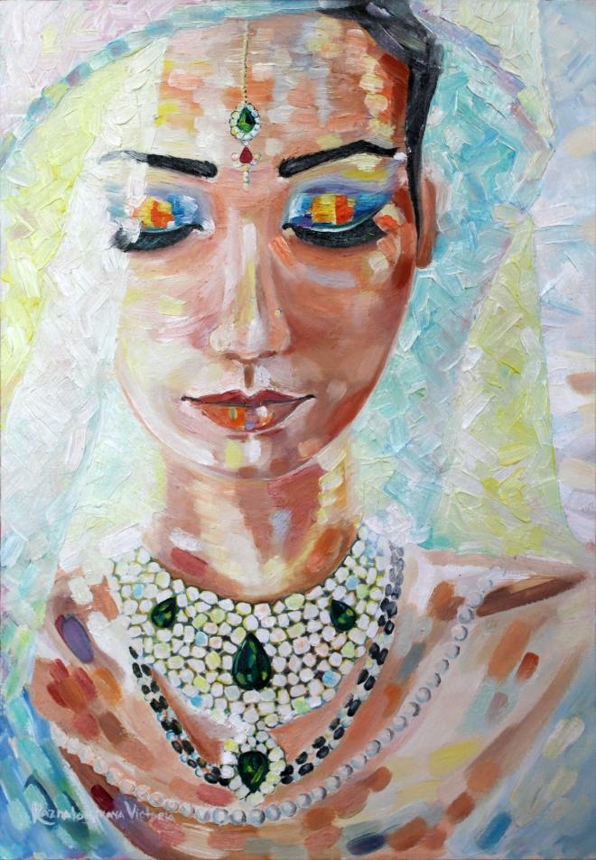 Картина маслом на холсте Раджна