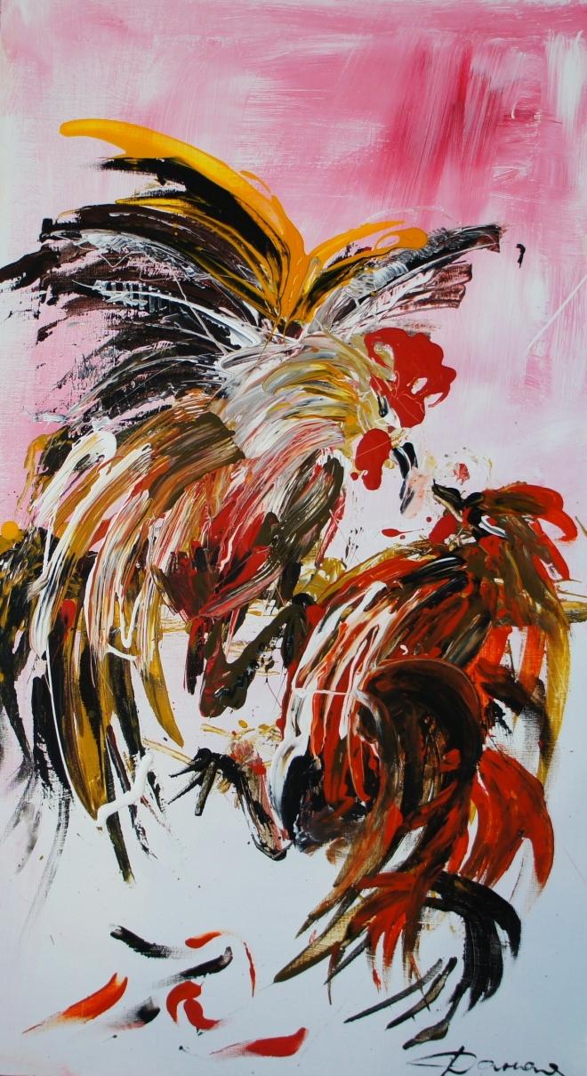 Картина на холсте Петушиный бой