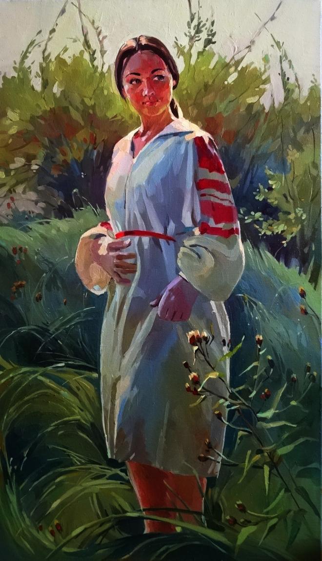 Картина маслом В начале осени