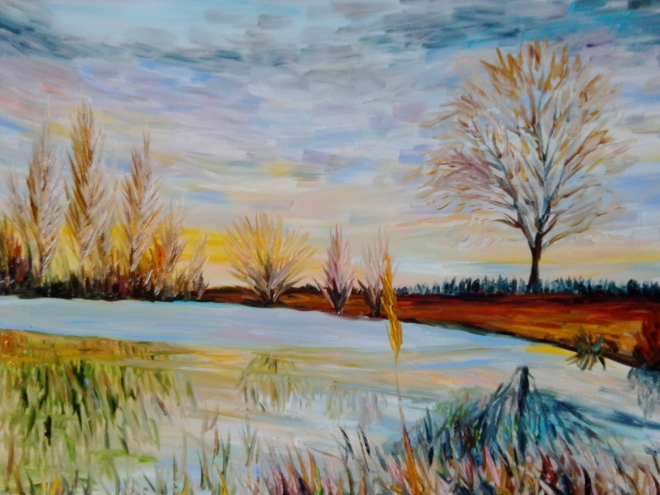 Речной пейзаж 19