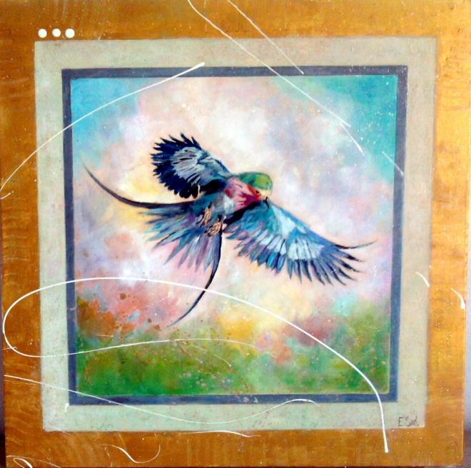 "Картина на холсте ""Птица счастья."""