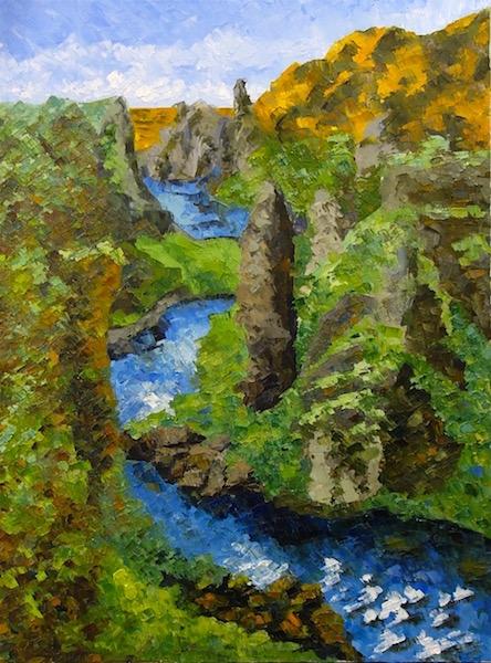 Картина маслом Холодная речка