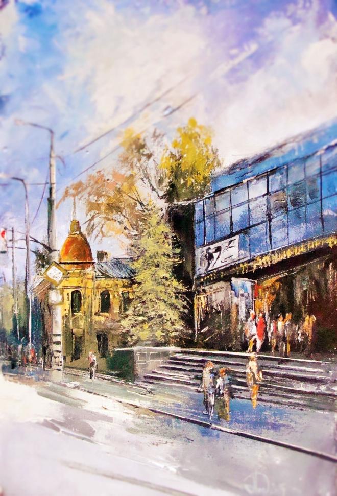 Картина на холсте Здание КРЦ