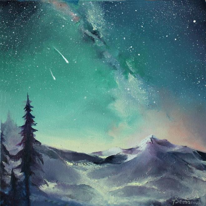 Картина маслом Звёздная ночь