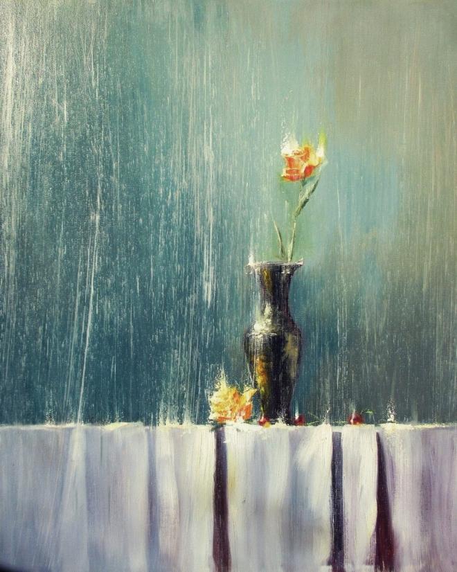Картина маслом на холсте Под Дождём