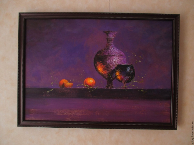 Картина натюрморт маслом Цвет Цитрусов