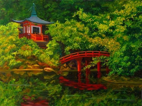 Картина маслом Парк Киото