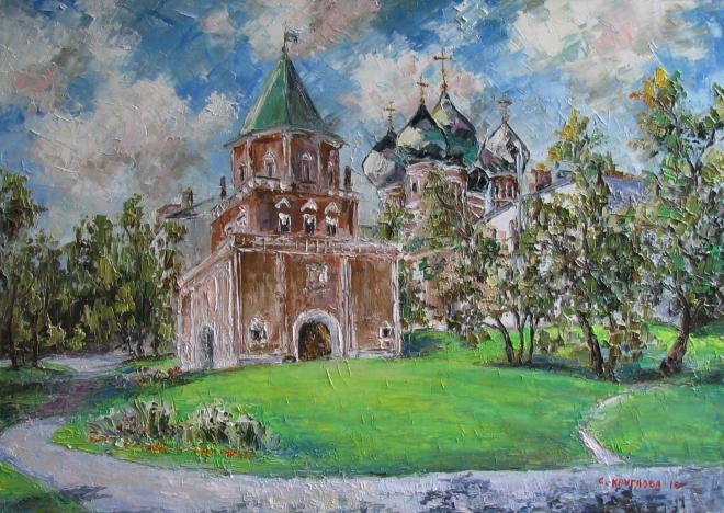 Картина маслом Покровский собор в Измайлово
