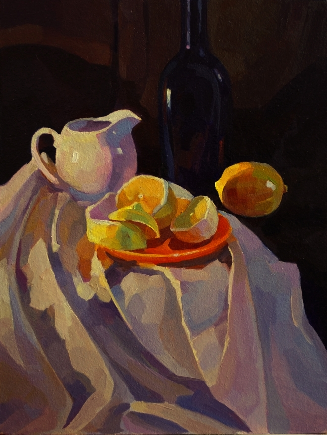 Картина маслом Натюрморт с лимоном