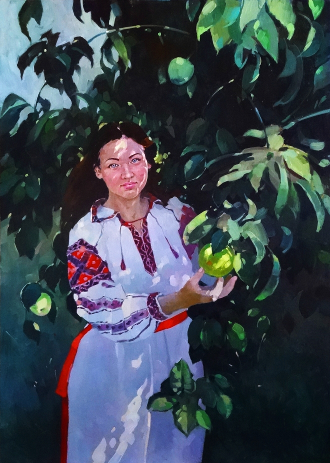 Возле яблони