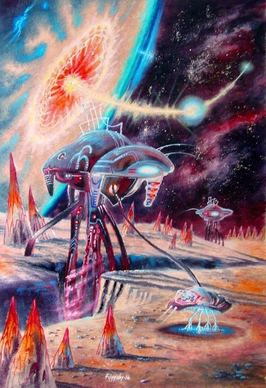 Картина маслом Космические инженеры.