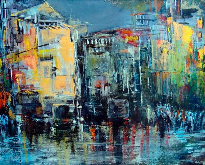 Картина на холсте Городские будни