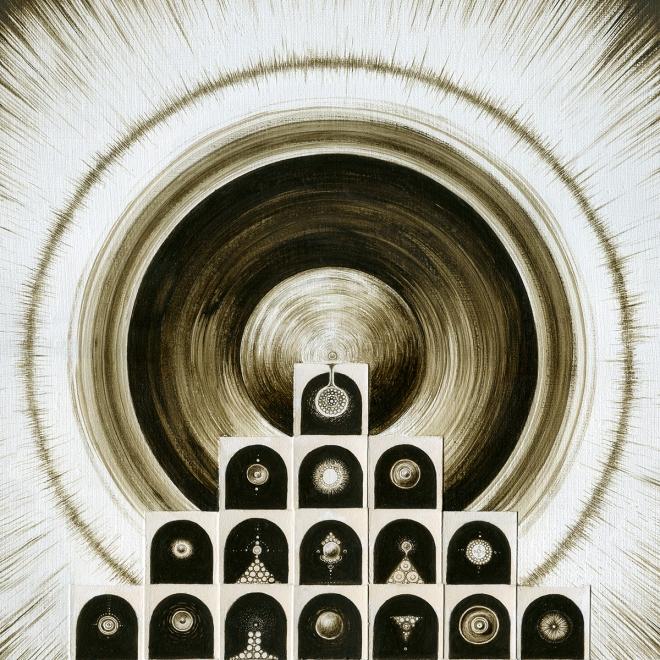 Картина акварелью на холсте N E X U S (фрагмент)