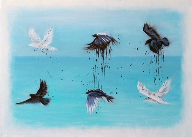 Картина маслом на холсте Белая ворона