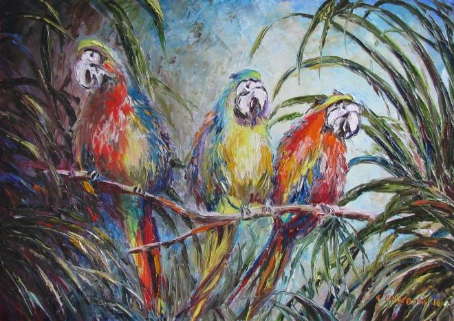 Картина маслом Райские птицы