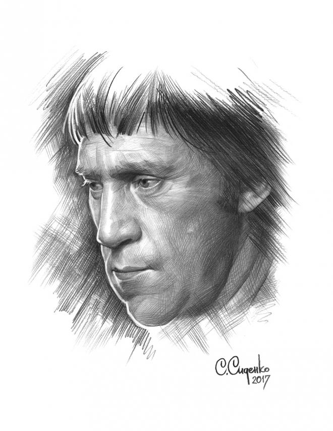 Портрет В.С.Высоцкого