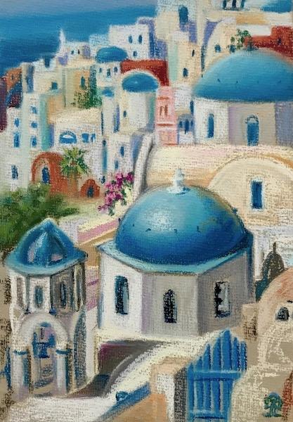 Картина Санторини