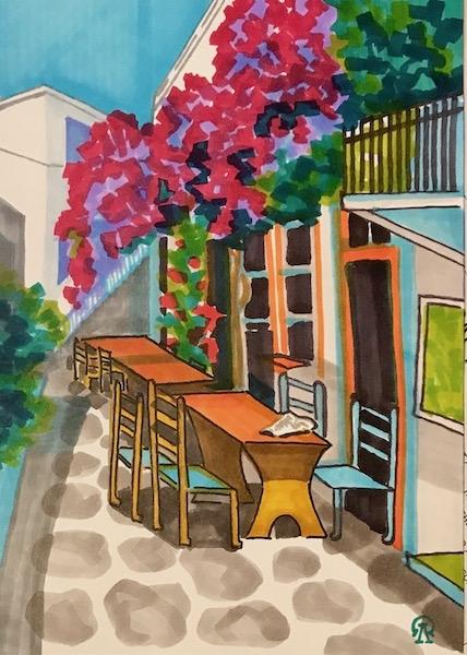Картина Греческая улочка