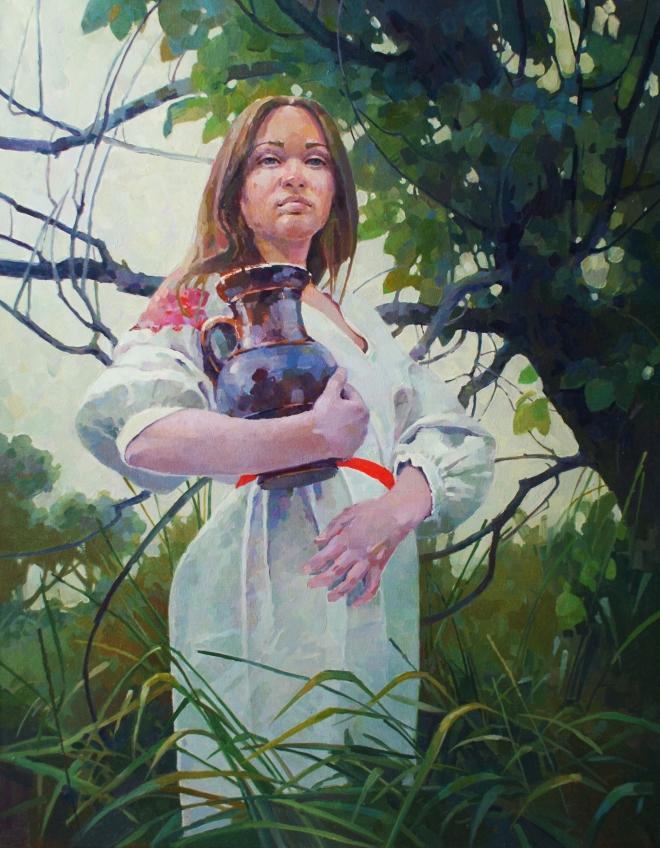 Картина Девушка с кувшином