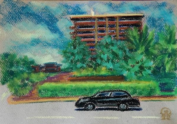 Картина Хайнань. Авто.