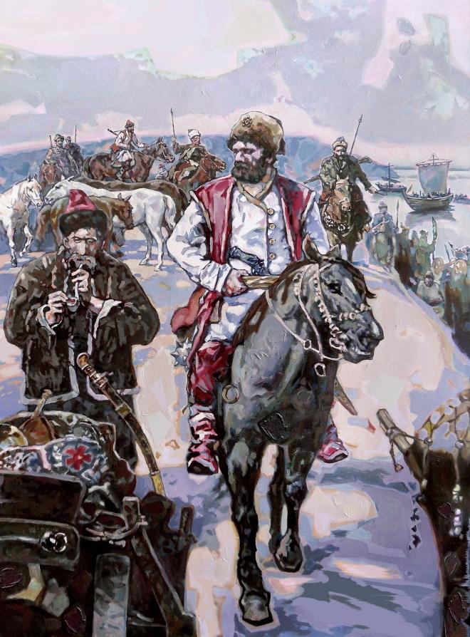 Картина маслом на холсте Степан Разин