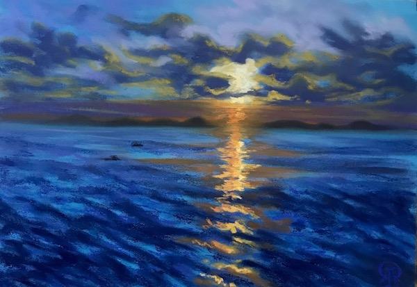 Картина Вьетнам. Морской закат.