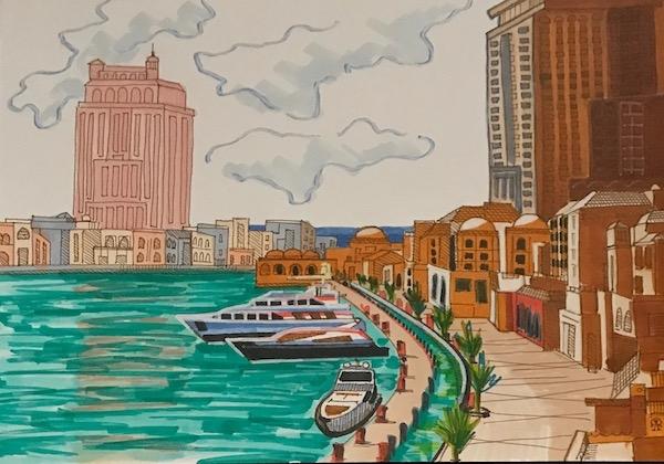 Картина Восточный город.