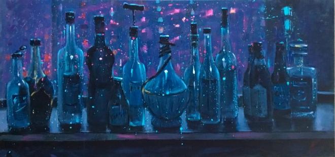 Картина Лунные бутылки