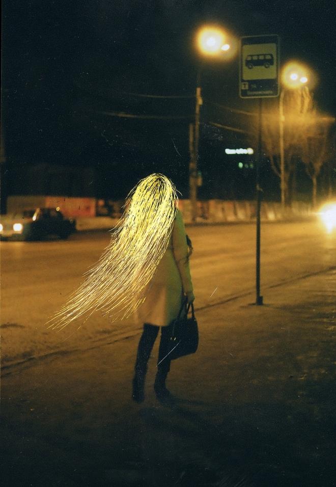 девушка комета