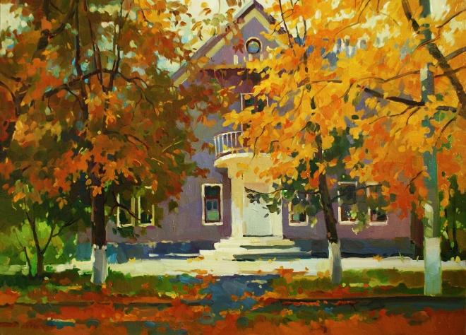 Картина Осенний день в Светловодске