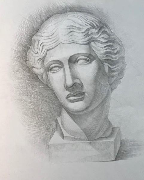 Картина Гипсовая голова
