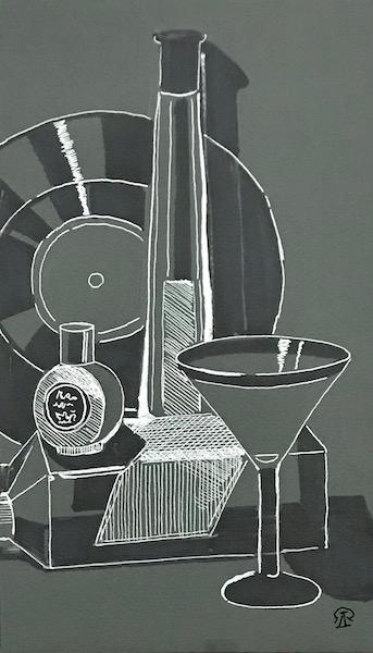 Картина Скетч с пластинкой. Ракурс 1.