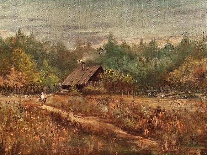 Картина маслом на холсте В субботний вечер