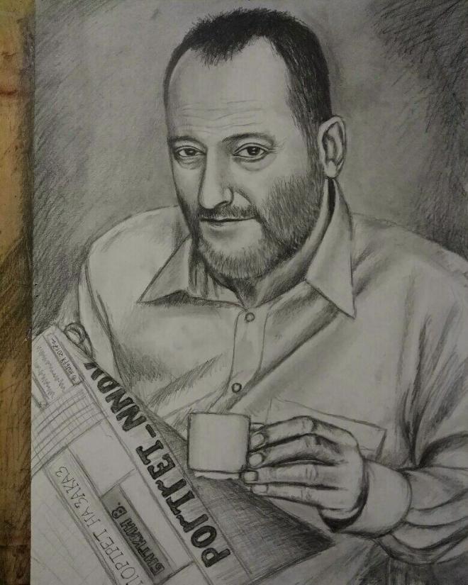 Портрет мужчины с кофе.