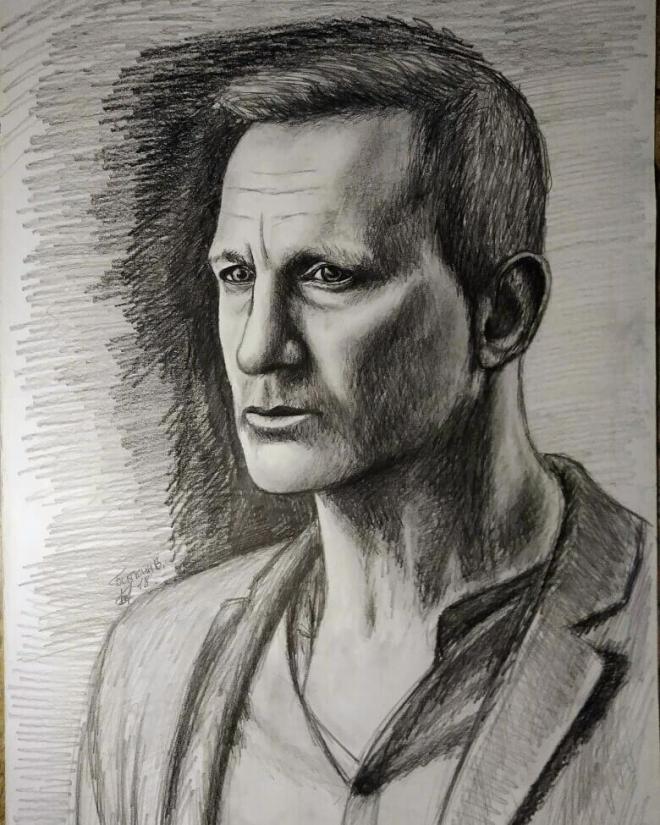 Портрет мужчины карандашом.