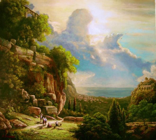 Картина маслом на холсте Анданте